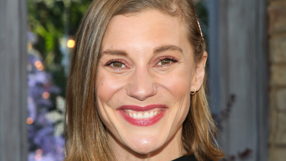 Katee Sackhoff attends a taping