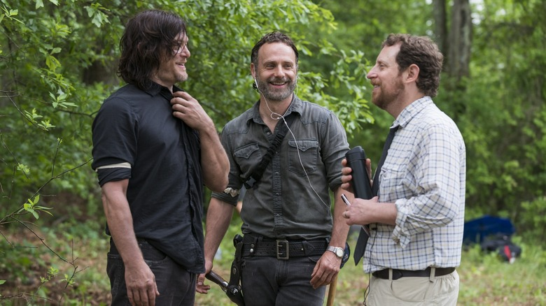 Scott Gimple with TWD cast