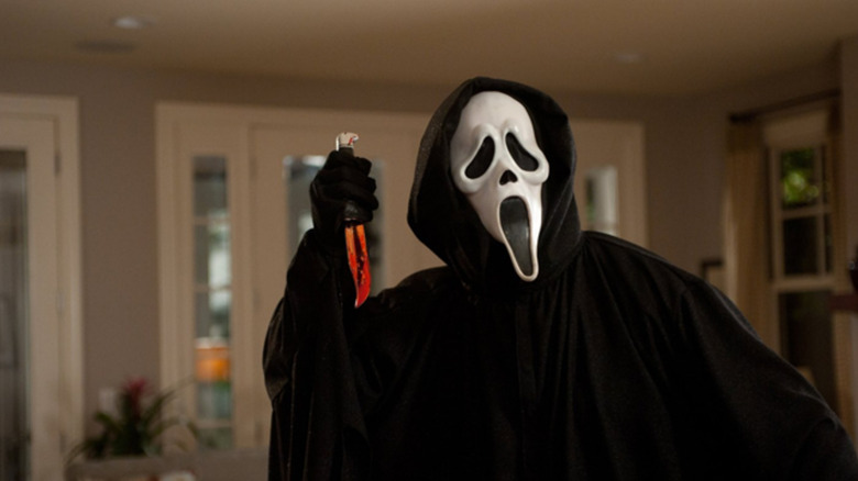 Ghostface with bloody knife