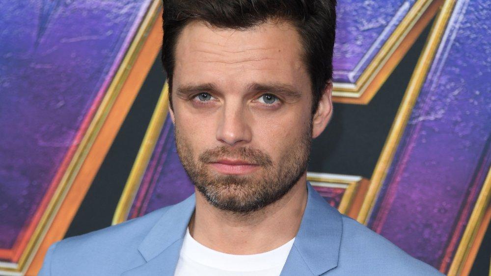 Sebastian Stan on the carpet of The Avengers: Endgame premiere