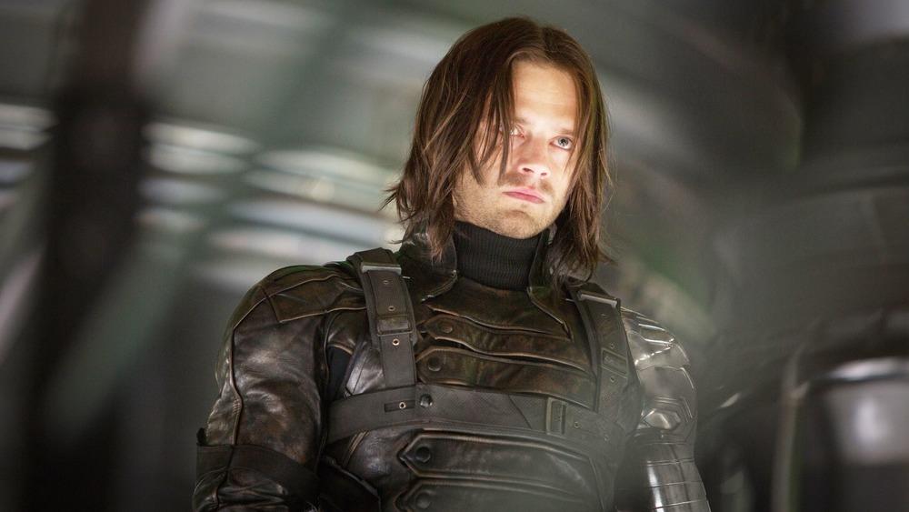 Sebastian Stan uniform scowling Bucky
