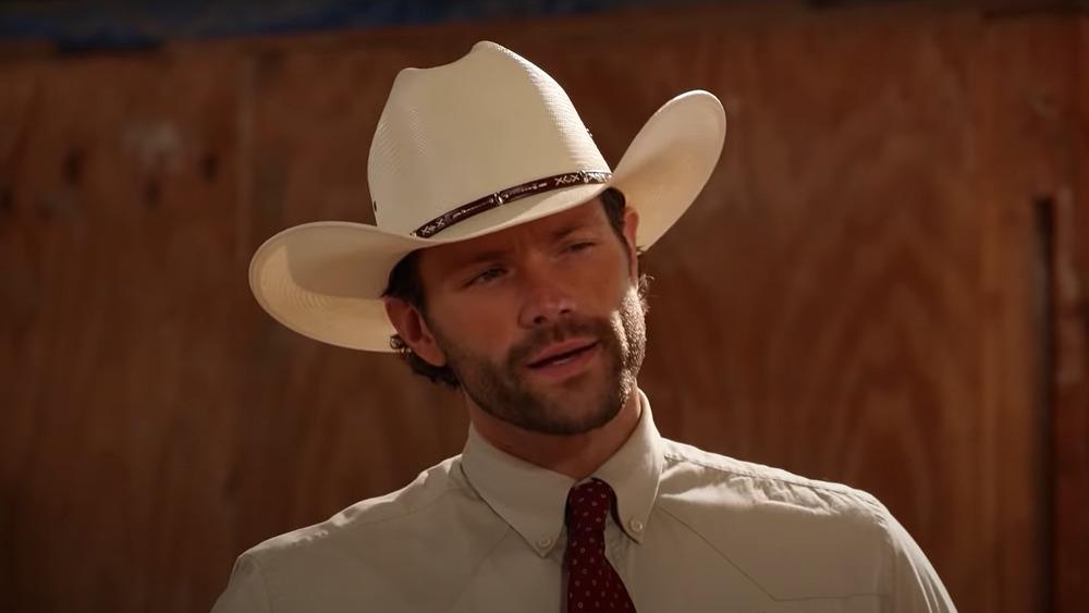 Jared Padalecki in cowboy hat on Walker