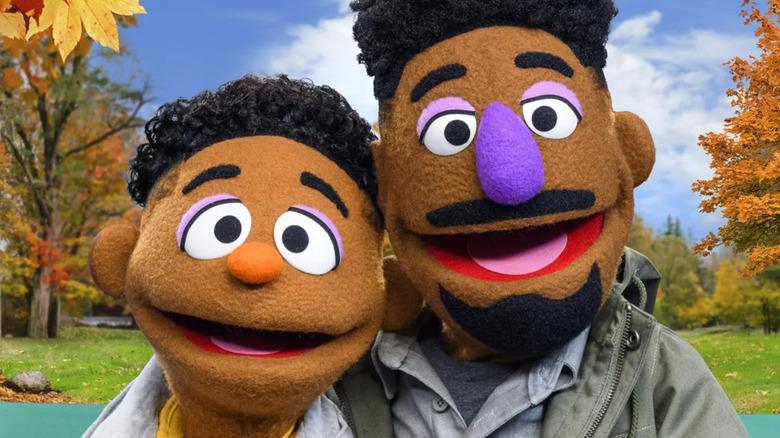 Wes and Elijah in Sesame Street