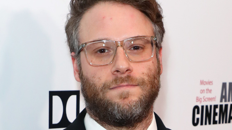 Seth Rogen wearing glasses