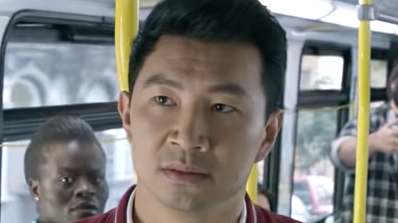 Simu Liu on a public bus