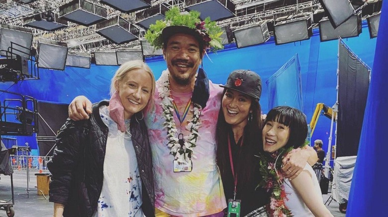 The cast and crew share photos indicating production has wrapped on Shang-Chi