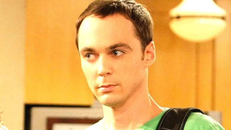 Sheldon Cooper looking to the right