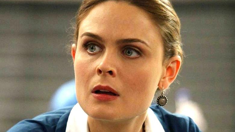 Emily Deschanel as Temperance Brennan in close-up