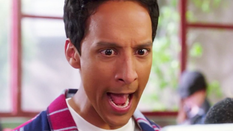 Abed from Community freaks out