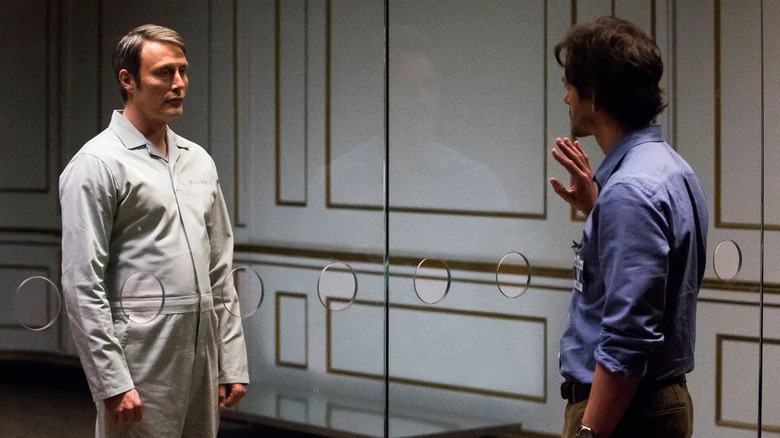 Hannibal Lecter Will Graham glass wall