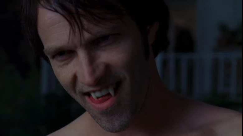 True Blood's Bill Compton shows off his fangs