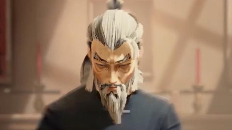 Older man with ponytail