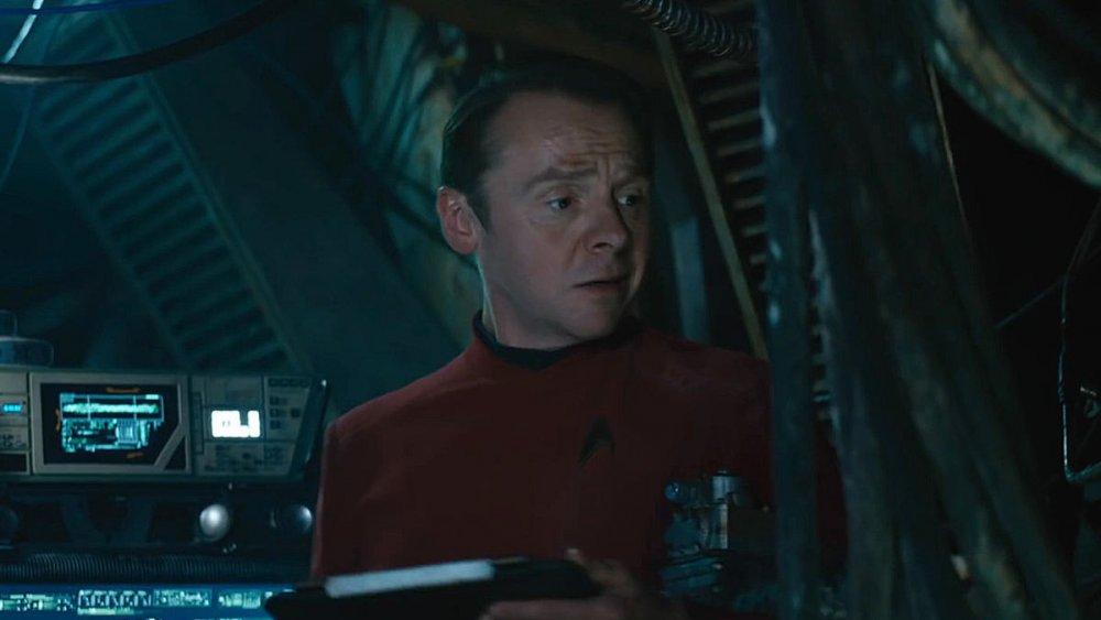 Simon Pegg as Scotty in the Kelvin Timeline Star Trek trilogy