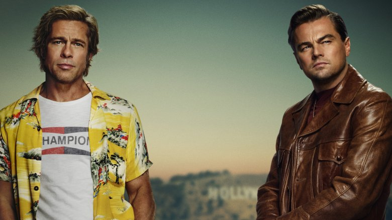 Top half of the poster for Once Upon A Time In... Hollywood