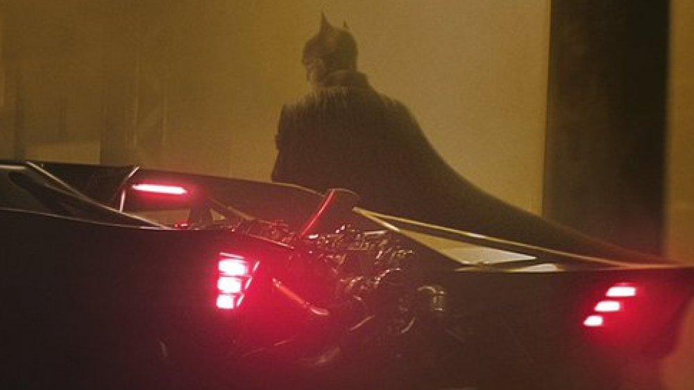 Batman and the Batmobile in The Batman