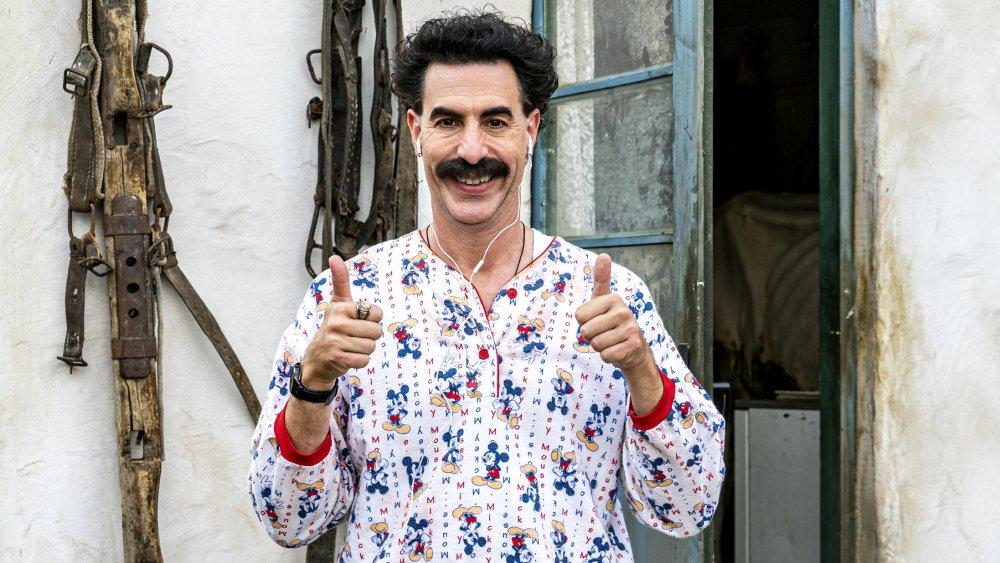 Sascha Baron Cohen as Borat Sagdiyev in Borat Subsequent Moviefilm