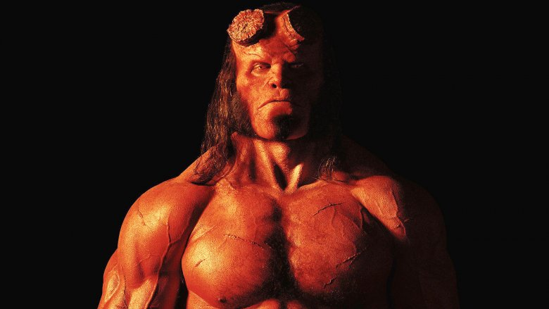 Hellboy shirtless