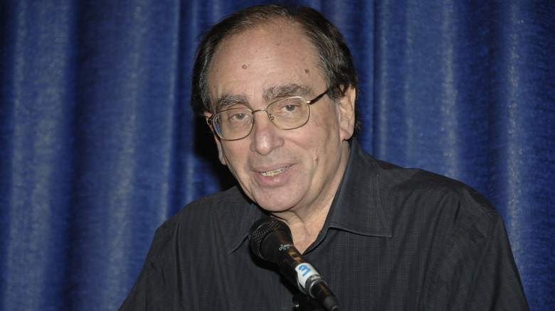 R.L. Stine at book signing