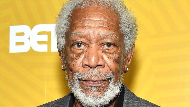 Morgan Freeman in closeup