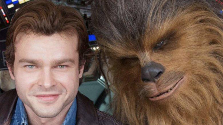 Alden Ehrenreich Joonas Suotamo Han Solo Chewbacca Solo: A Star Wars Story