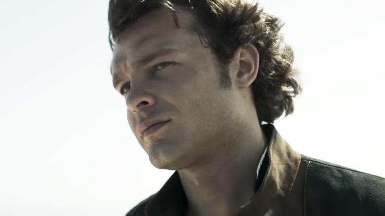 Alden Ehrenreich as Han Solo in Solo: A Star Wars Story
