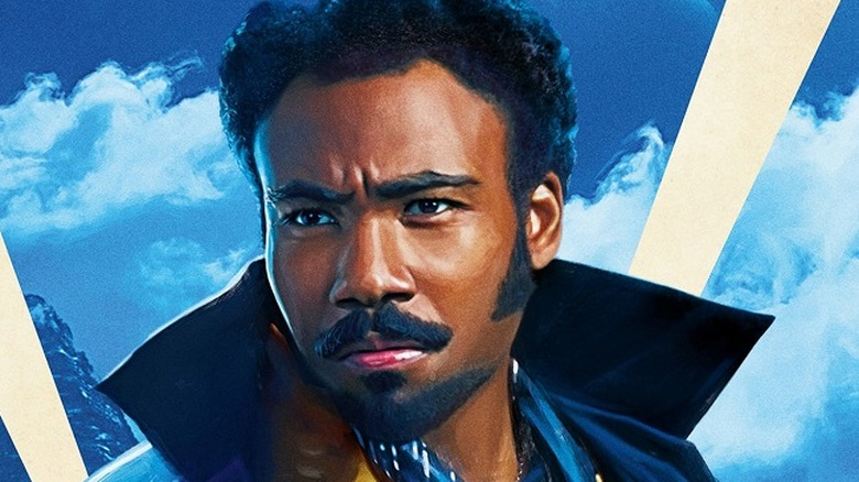 Donald Glover as Lando Calrissian in Star Wars: Solo: A Star Wars Story