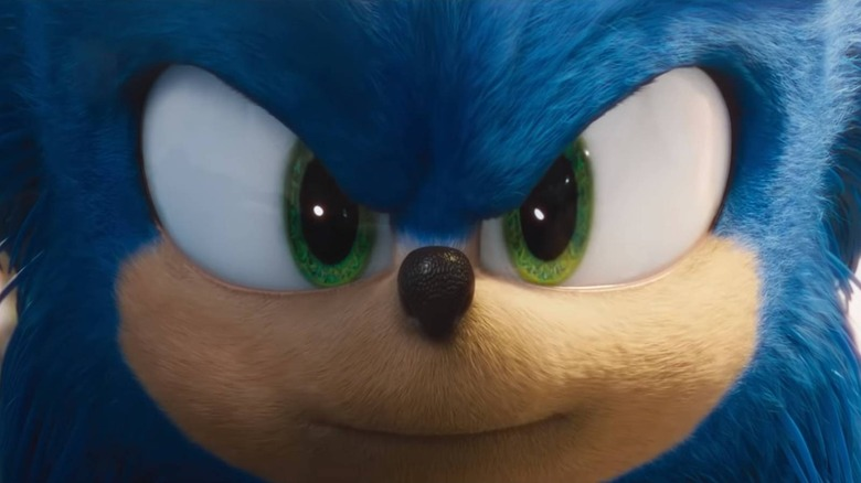 Sonic the Hedgehog staring