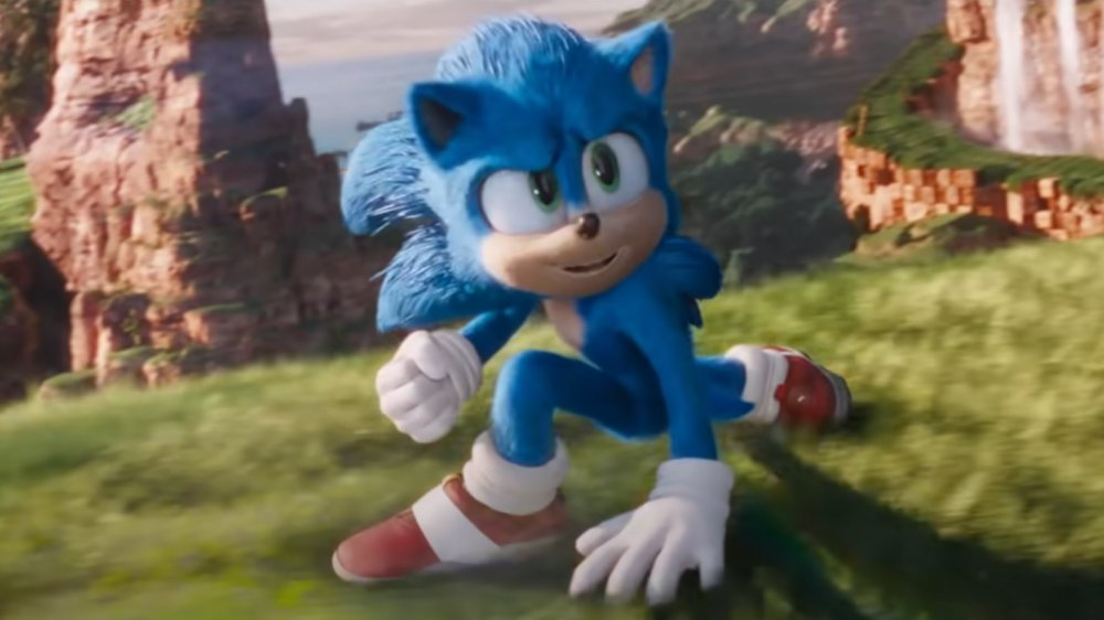 Sonic the Hedgehog as he appears in his feature film debut