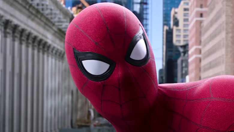 Spider-Man on top of a building