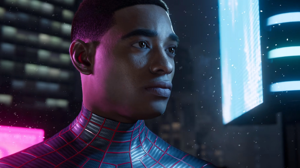 A screenshot from Insomniac Games' Spider-Man: Miles Morales
