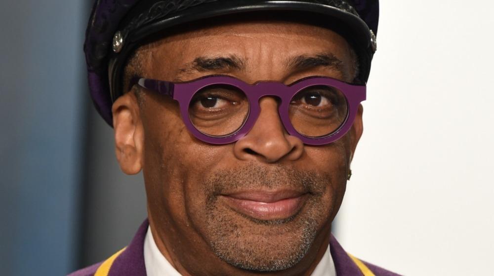 Spike Lee in purple glasses