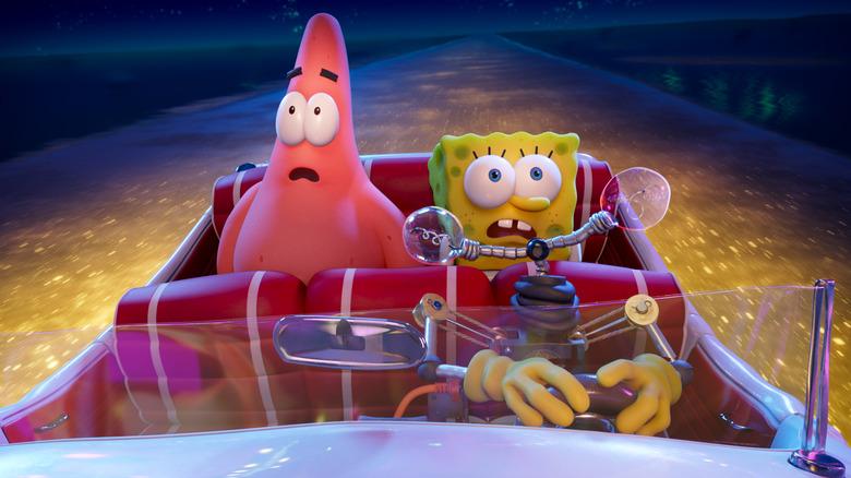 Patrick and SpongeBob in The SpongeBob Movie: Sponge on the Run