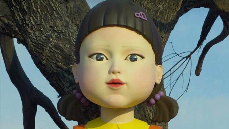 Scary doll in Netflix series Squid Game