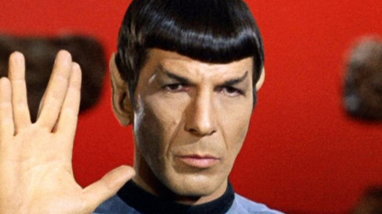 Spock looking somber