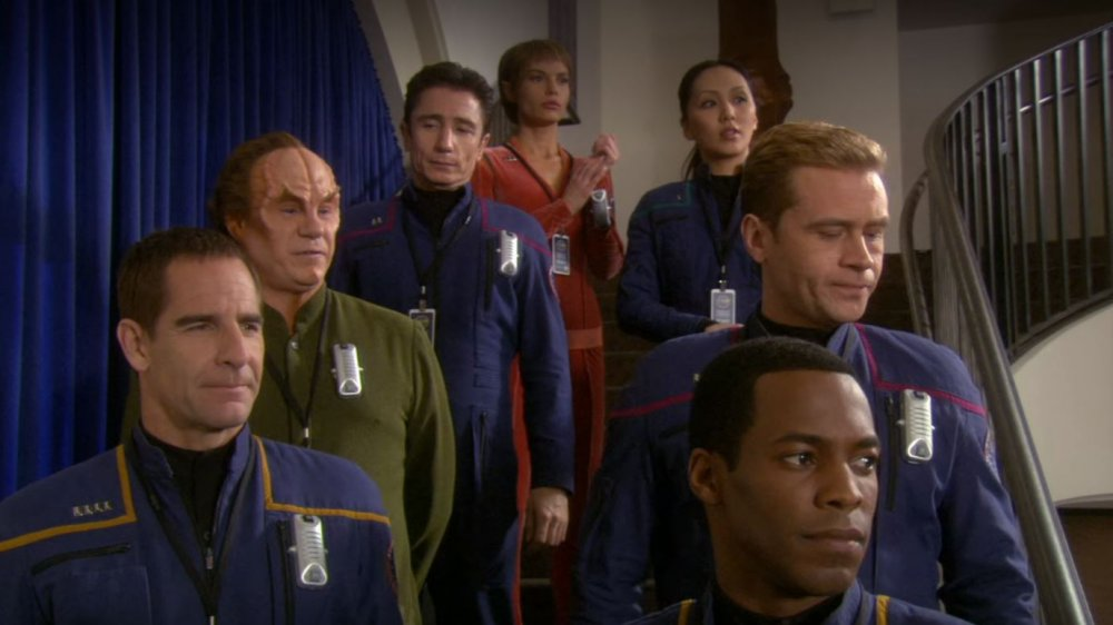"The crew of Enterprise, as seen in the Star Trek: Enterprise episode ""Demons"""