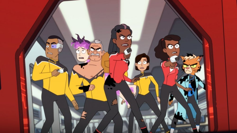 Crew of USS Cerritos on Star Trek: Lower Decks