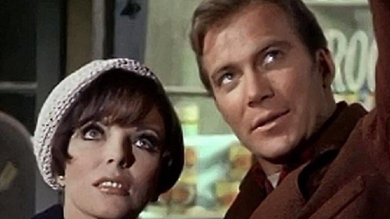 Kirk kissing Uhura