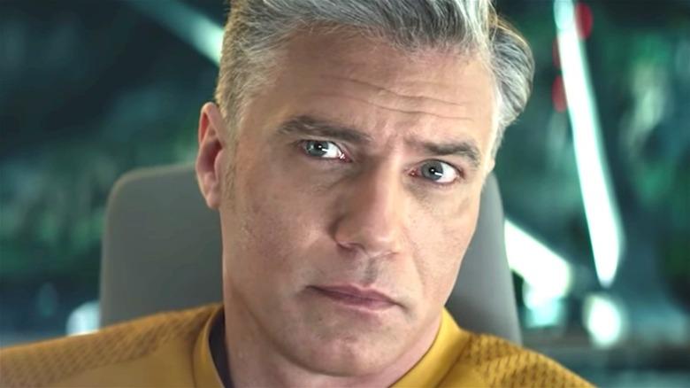 Anson Mount as Christopher Pike on 'Star Trek Strange New Worlds'