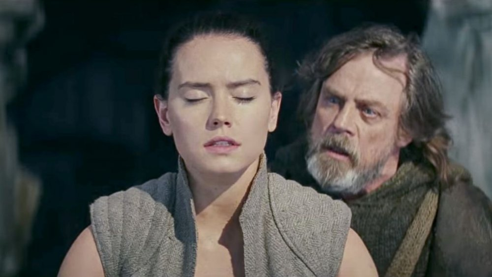 Daisy Ridley as Rey and Mark Hamill as Luke Skywalker The Last Jedi