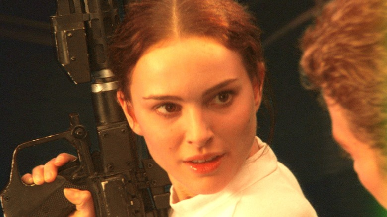 Padme and Anakin in battle mode