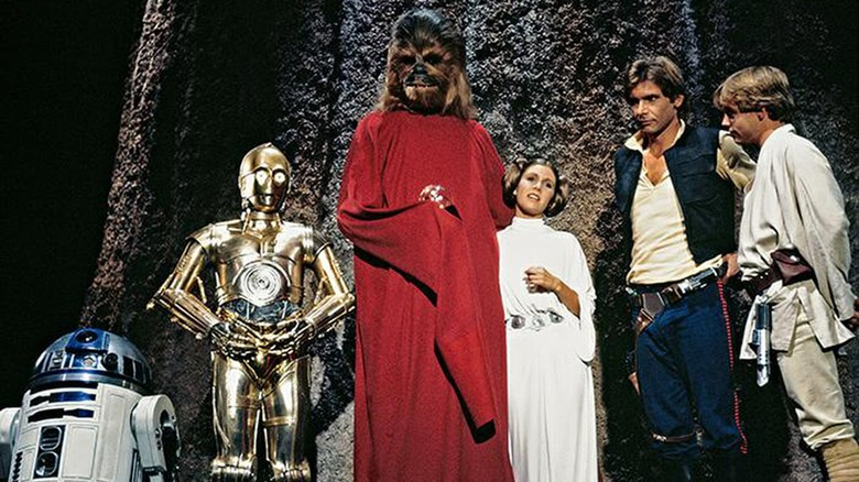 The cast of The Star Wars Holiday Special during its grand finale