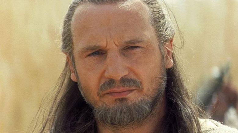 Liam Neeson Qui-Gon Jinn staring