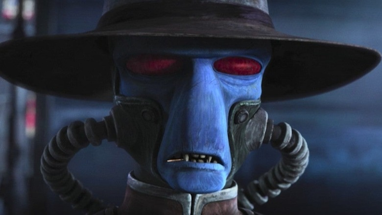 Cad Bane with a toothpick in his mouth