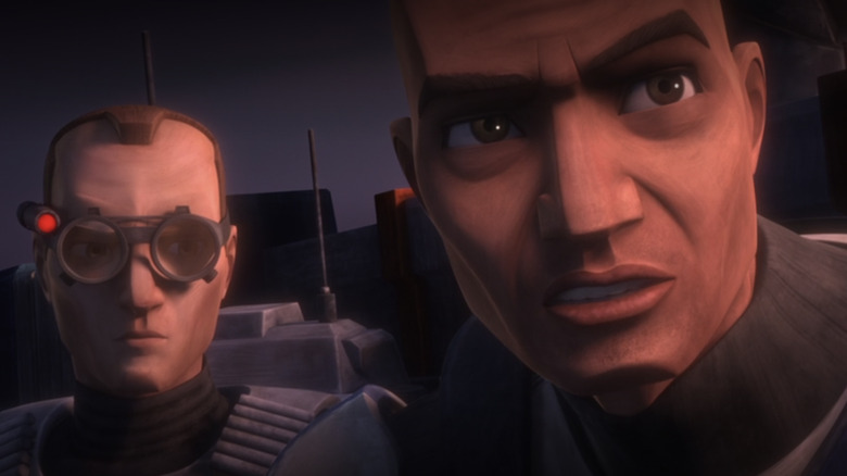 Captain Rex and Tech on Star Wars The Clone Wars season 7, episode 1