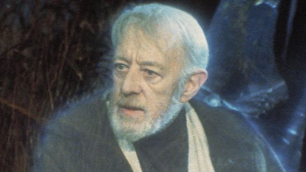 Sir Alec Guinness as Obi-Wan Kenobi, from Star Wars