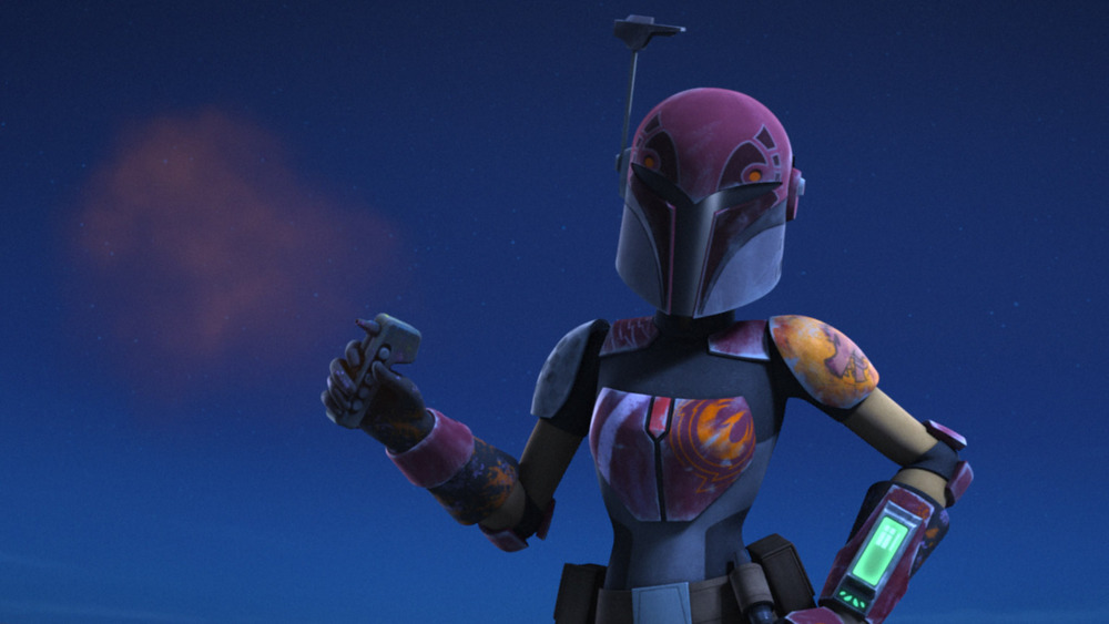Sabine Wren in full armor on 'Star Wars: Rebels'