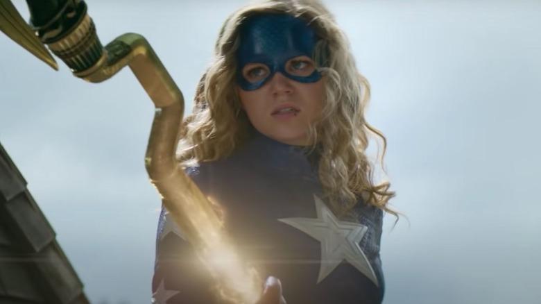 Stargirl brandishes the Cosmic Staff