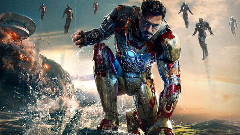 Robert Downey Jr. as Iron Man in Iron Man 3