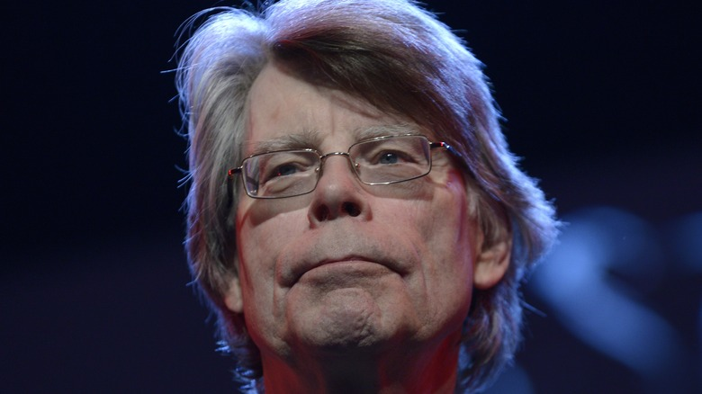 Stephen King on a stage