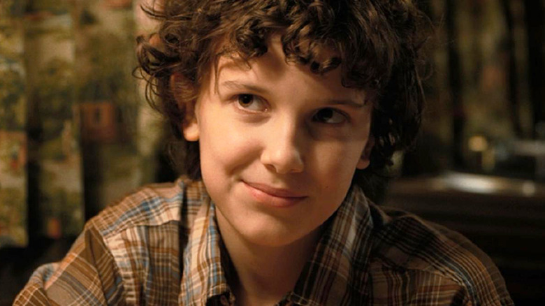 Millie Bobby Brown as Eleven on Stranger Things